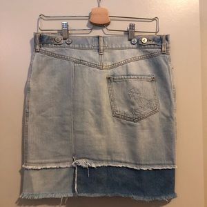 Denim Skirt/Table skirt Raw Edge Skirt